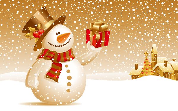 Free_Scenery_Wallpaper__Includes_Snowman_Christmas_Gift_the_Receiver_Will_be_More_than_Happy